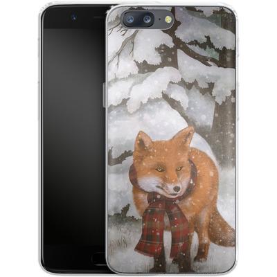 OnePlus 5 Silikon Handyhuelle - Winter Fox von Terry Fan