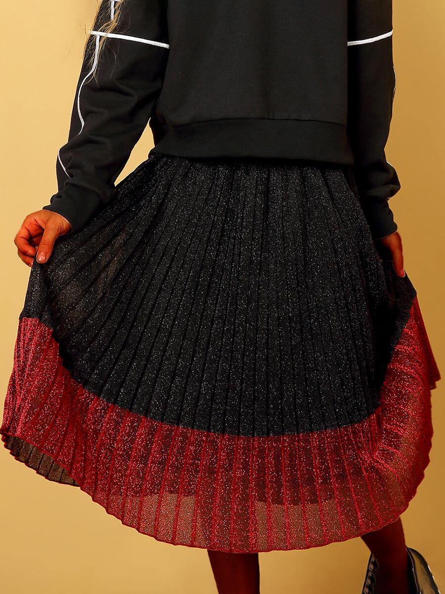 LW Lovely Trendy Fold Design Black Girl Skirt