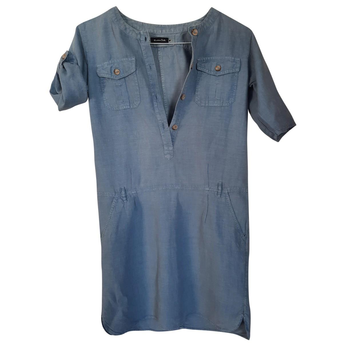Massimo Dutti \N Blue Linen dress for Women S International