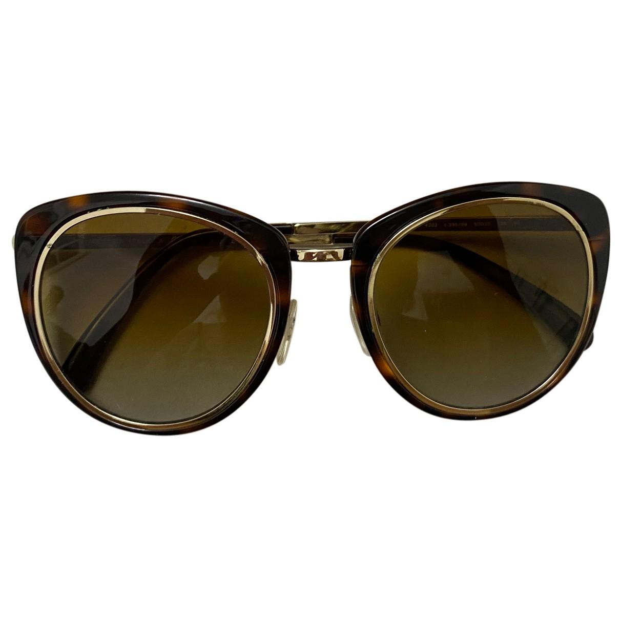 Chanel N Brown Metal Sunglasses for Women N
