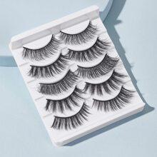 5pairs 3D Natural Fake Eyelash