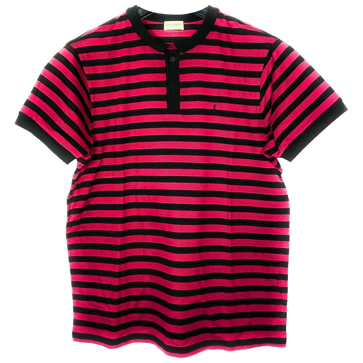 Saint Laurent - Polos   pour homme en coton - rouge