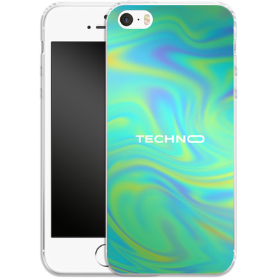 Apple iPhone 5s Silikon Handyhuelle - PSYCHEDELIC GREEN von Berlin Techno Collective