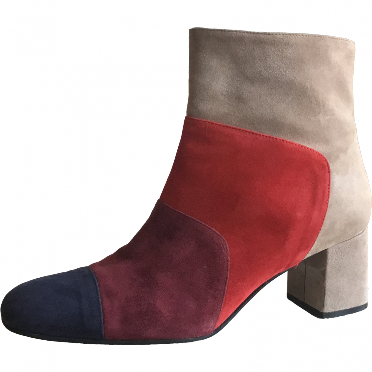 Non Signé / Unsigned \N Multicolour Suede Ankle boots for Women 40 EU