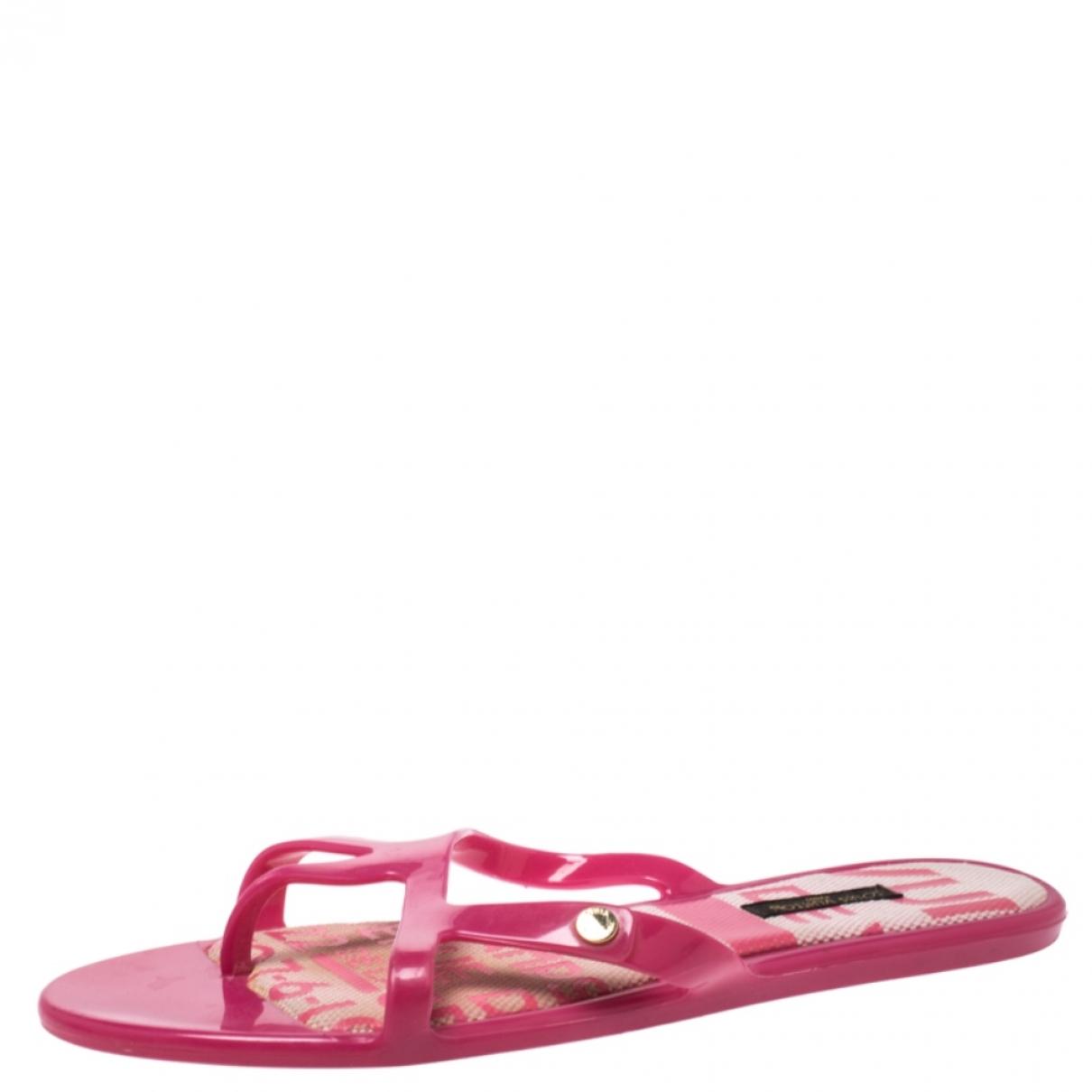 Louis Vuitton - Sandales   pour femme en caoutchouc - rose