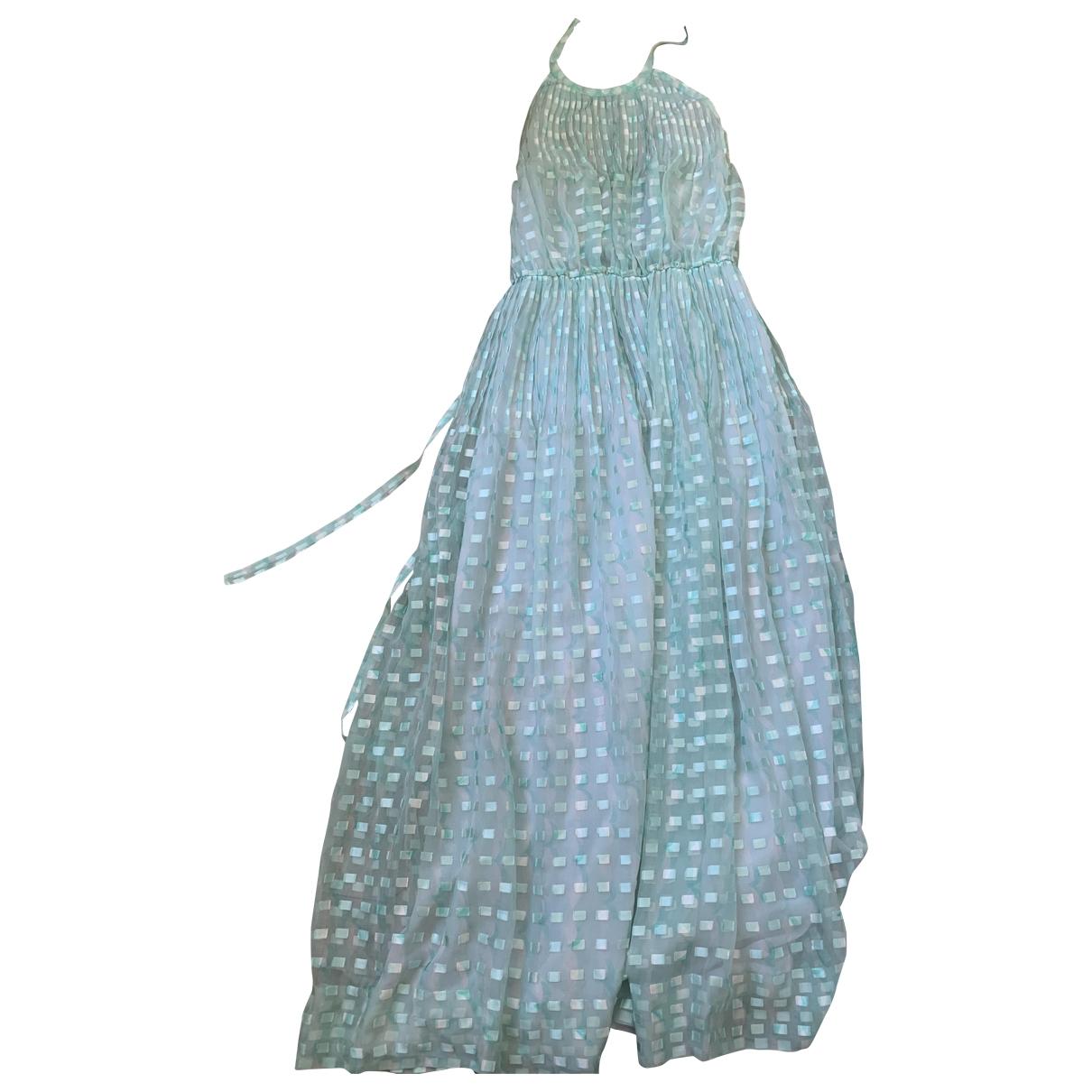 Courrèges \N Turquoise Silk dress for Women 36 FR