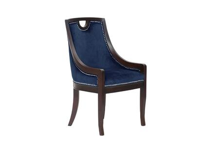 Oscar Collection FDC2714-AC Side Chair with Nail Head Trim  Sloped Armrest  Multi Density Foam Filled Cushion  Dark Espresso Solid Wood Frame and