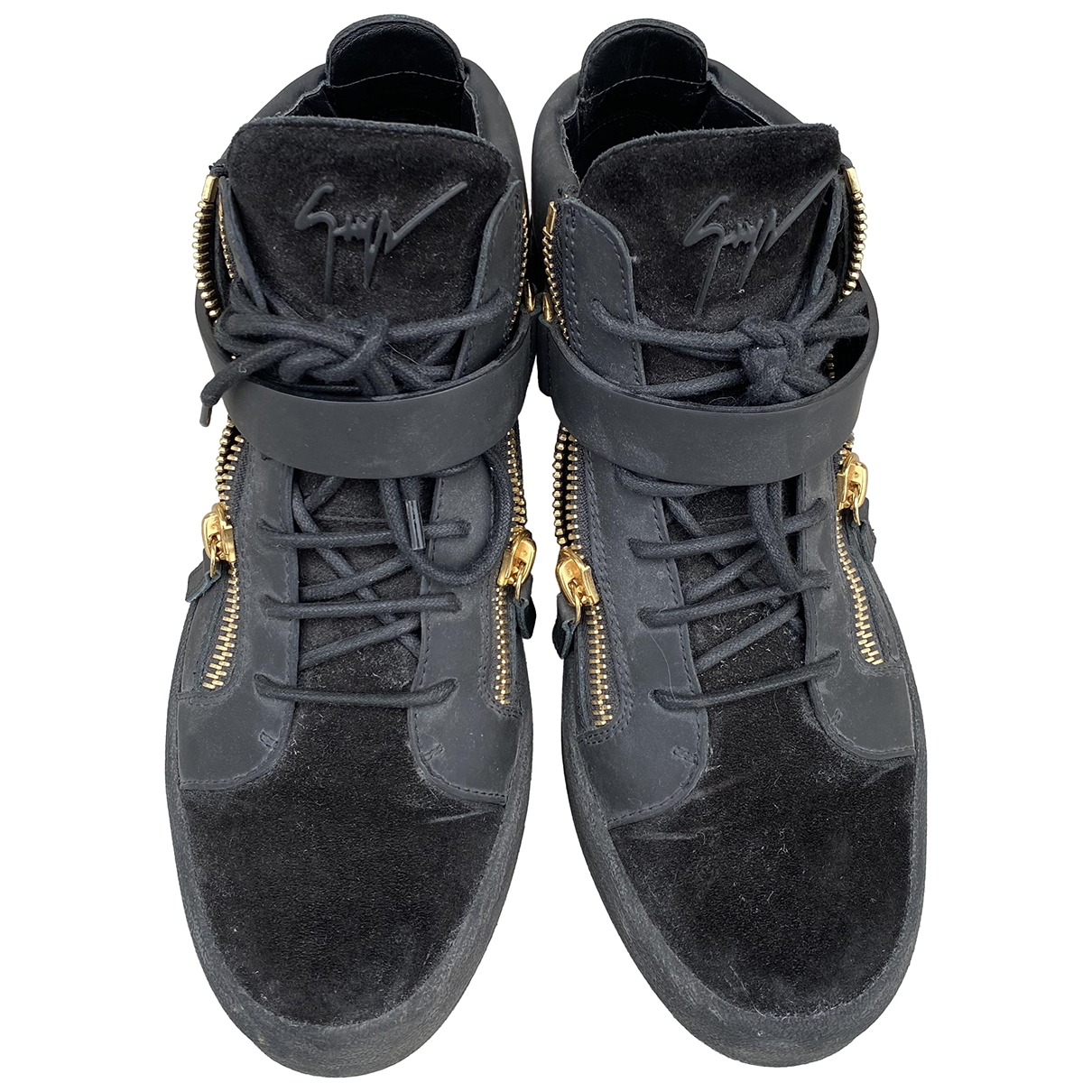 Giuseppe Zanotti \N Black Suede Trainers for Men 43.5 EU