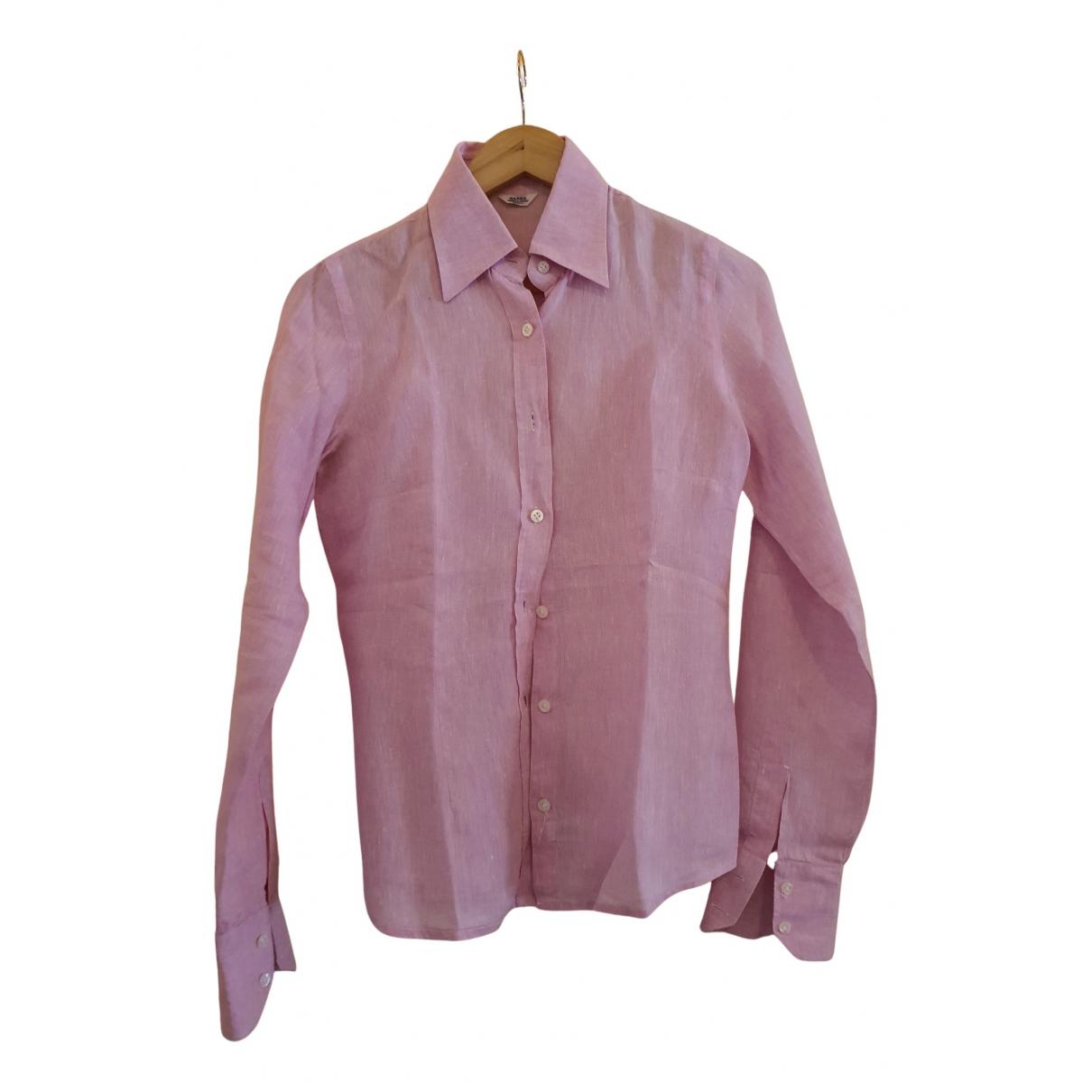 Barba - Top   pour femme en lin - rose