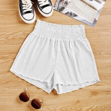 Shorts Liso Gris Casual
