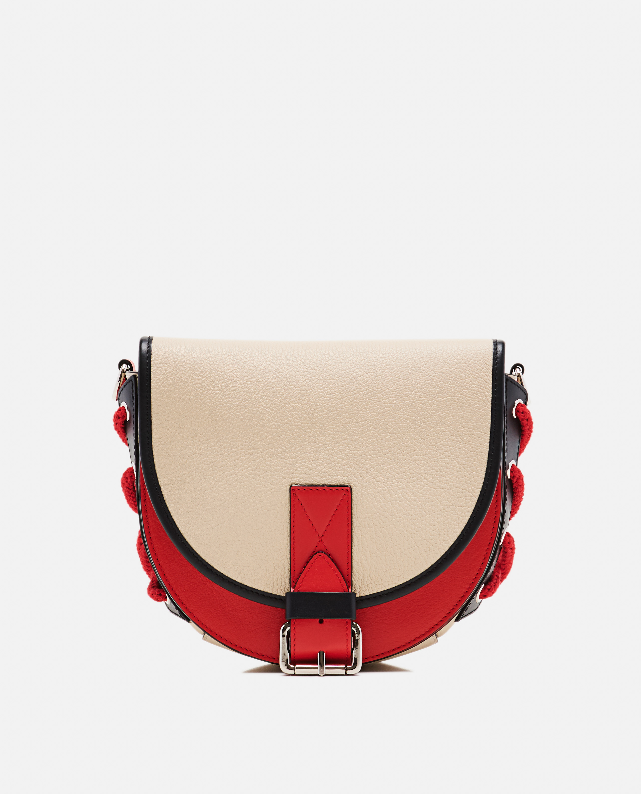 Bike Colour-Block Small Leather Shoulder Bag