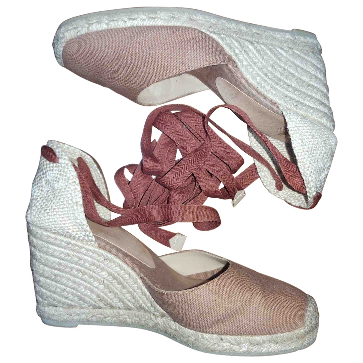 Castaner N Camel Cloth Espadrilles for Women 38 IT