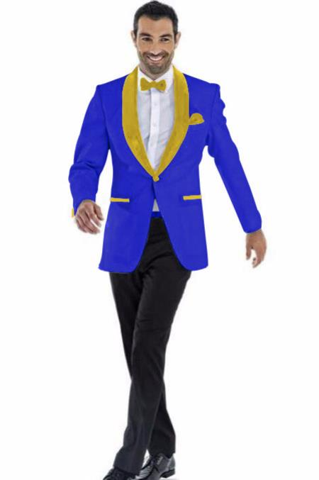 Mens Blazer Dark Royal ~ Gold