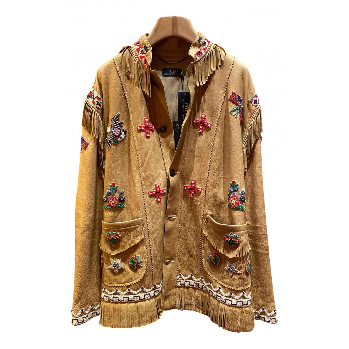 Polo Ralph Lauren \N Beige Leather jacket for Women M International