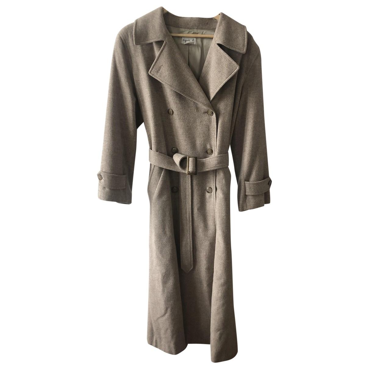 Agnes B. - Manteau   pour femme en laine - beige
