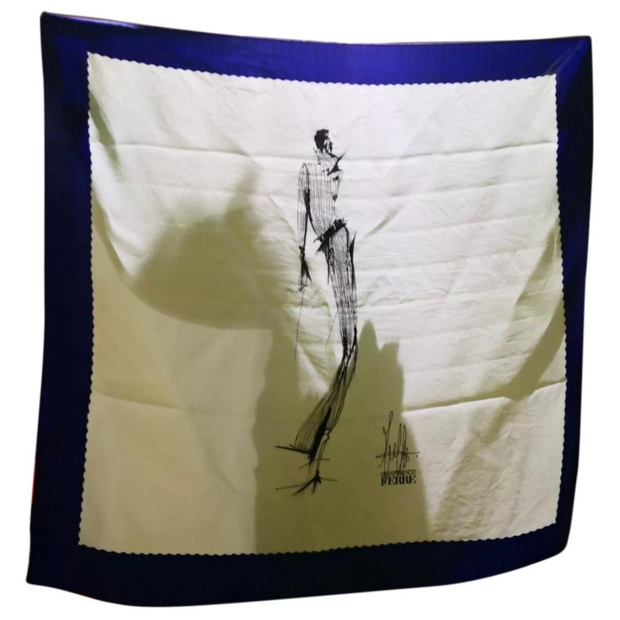 Gianfranco Ferre - Foulard   pour femme en soie - blanc