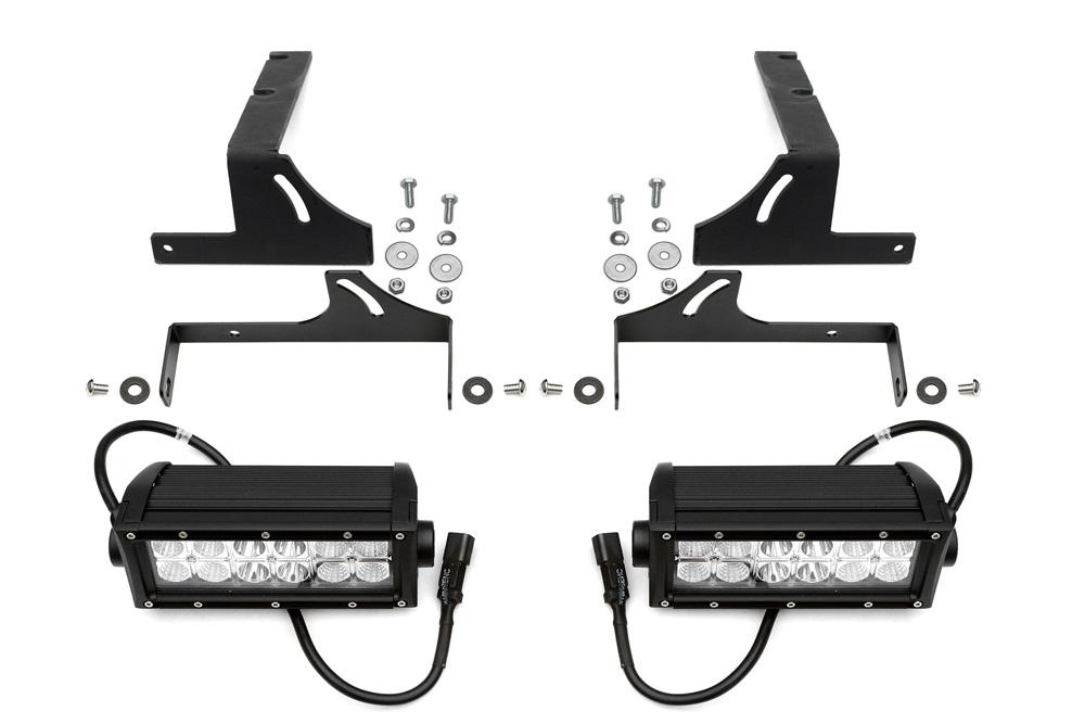 2014-2018 Silverado Sierra 1500 Rear Bumper LED Kit  Incl. (2) 6 Inch LED Straight Double Row Light Bars PN Z382082-KIT