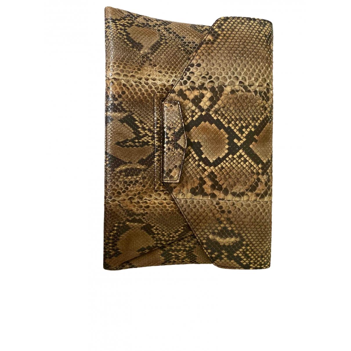 Givenchy Antigona Clutch in  Beige Python