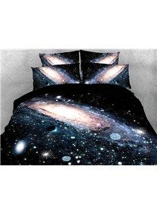 Dark Galaxy Machine Washable Soft Lightweight Warm 3D Printed 5-Piece Comforter Sets