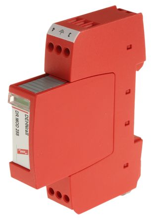 Dehn DR Series 255 V ac/dc Maximum Voltage Rating 5kA Maximum Surge Current Surge Arrester, DIN Rail Mounting