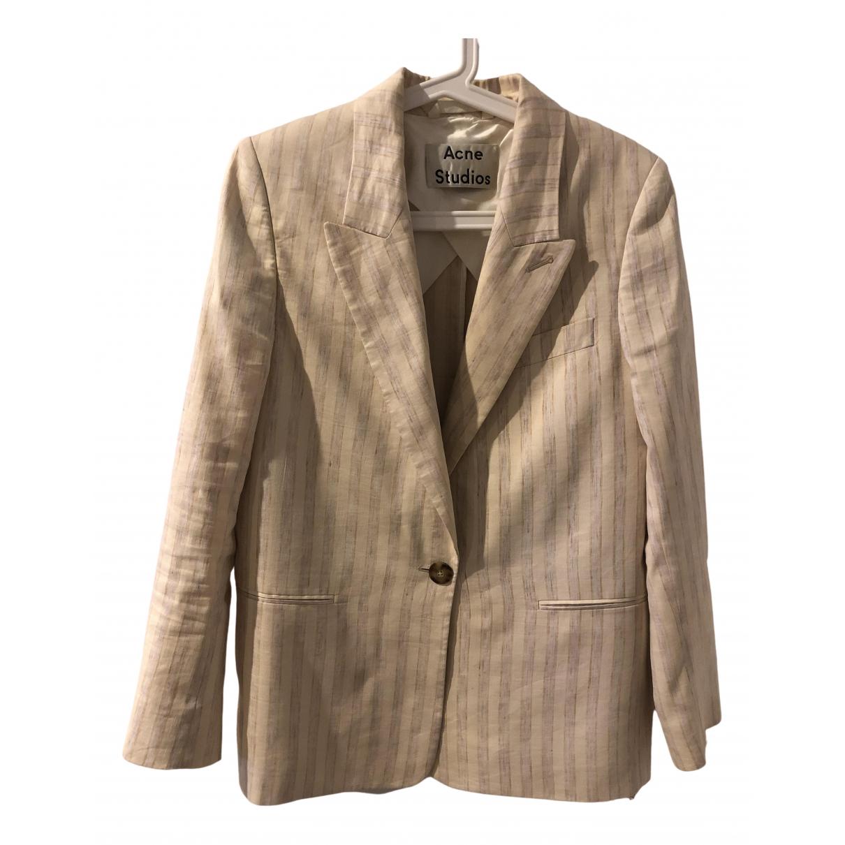 Acne Studios \N Beige Linen jacket for Women 32 FR
