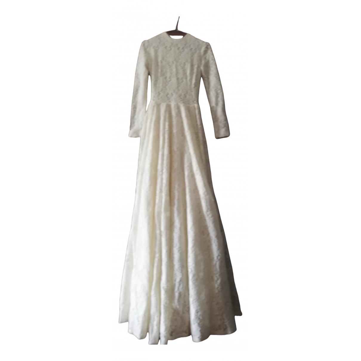 Daizy Shely N White Wool dress for Women 40 IT