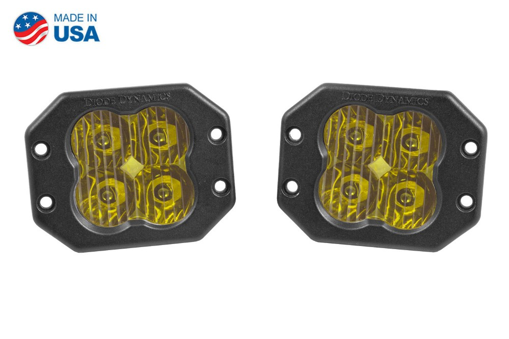 Diode Dynamics DD6212P Worklight SS3 Pro Yellow Driving Flush Pair