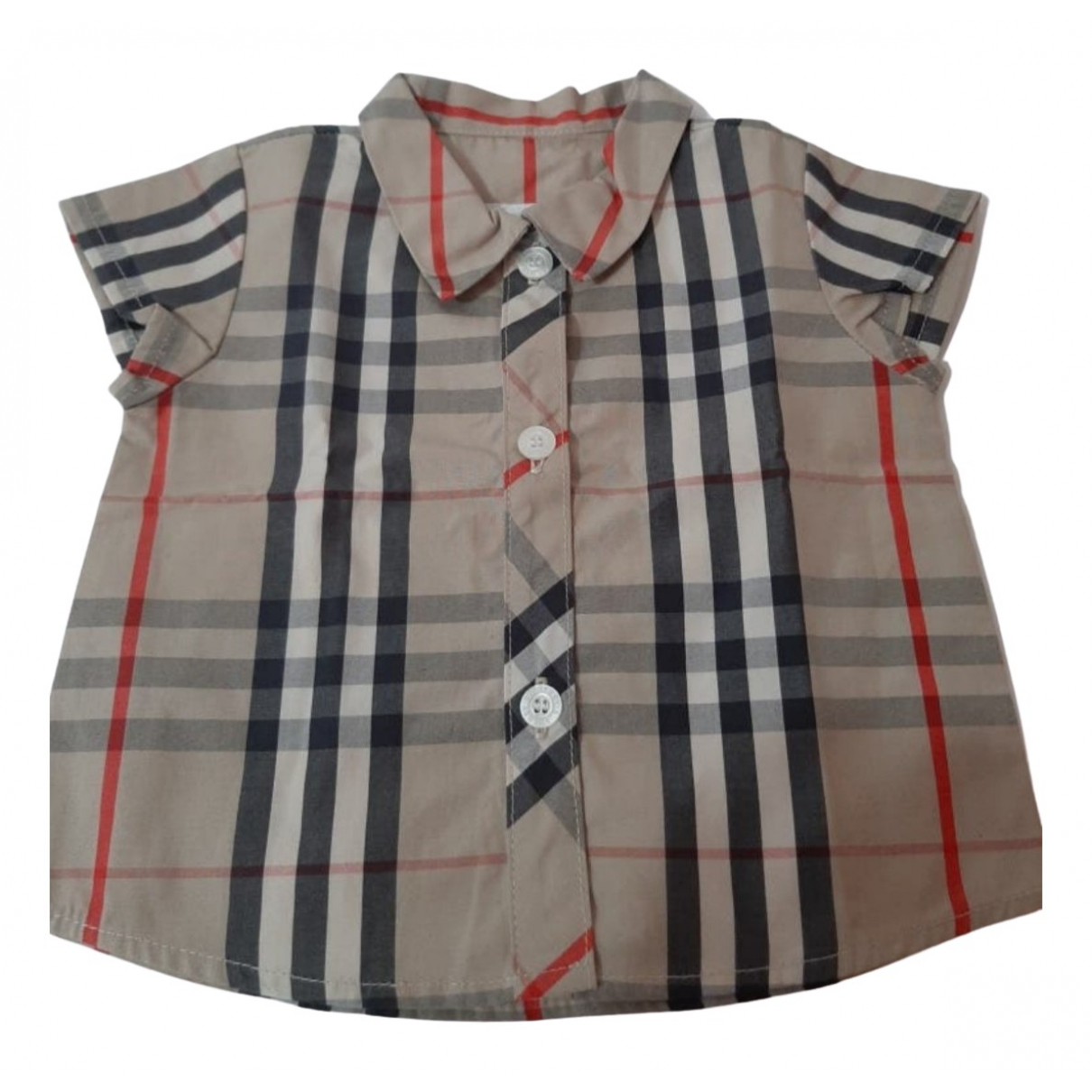 Burberry - Top   pour enfant en coton - marron
