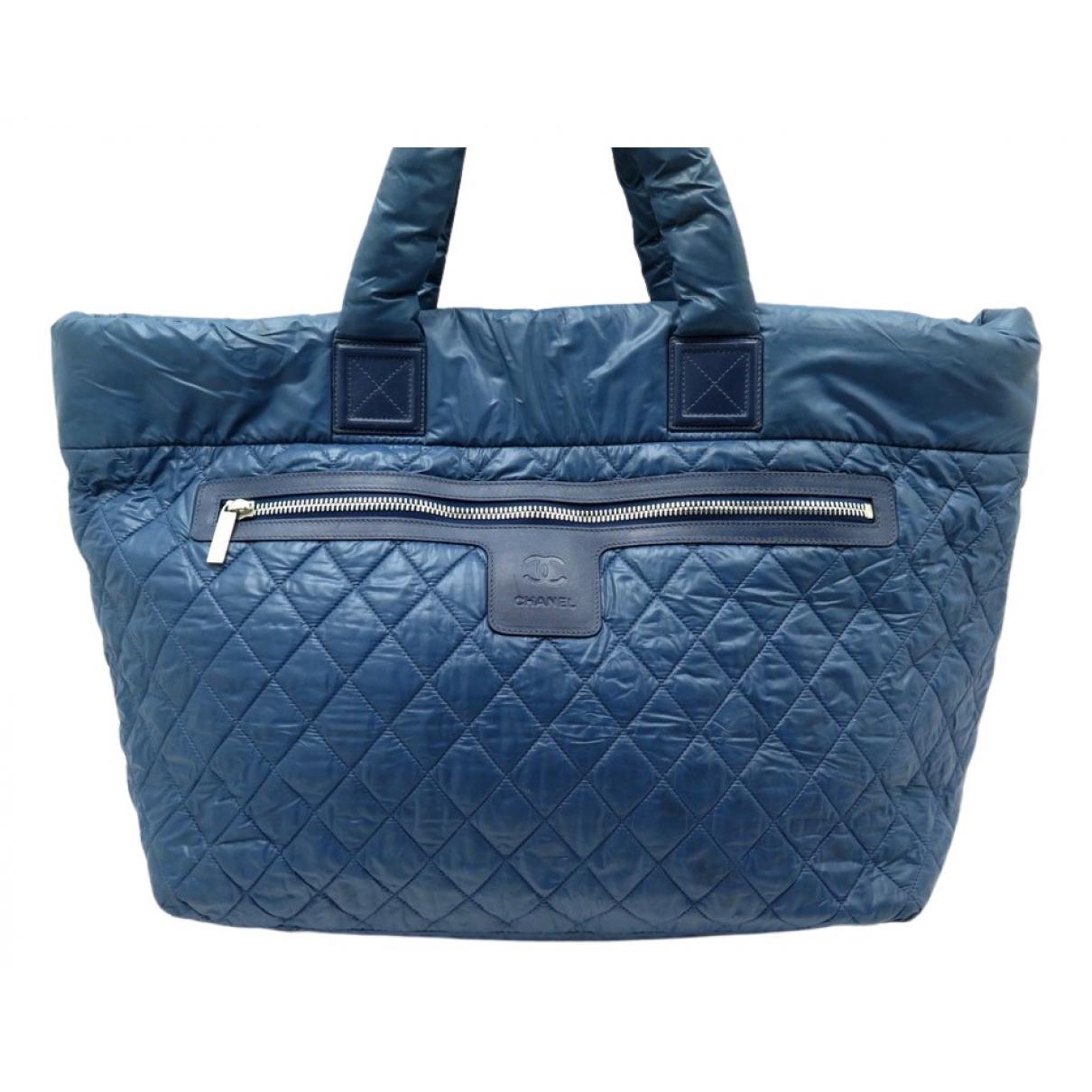 Chanel Coco Cocoon Handtasche in  Blau Leder