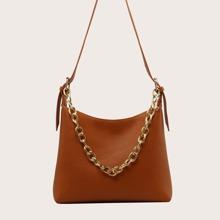 Zip Up Shoulder Bag