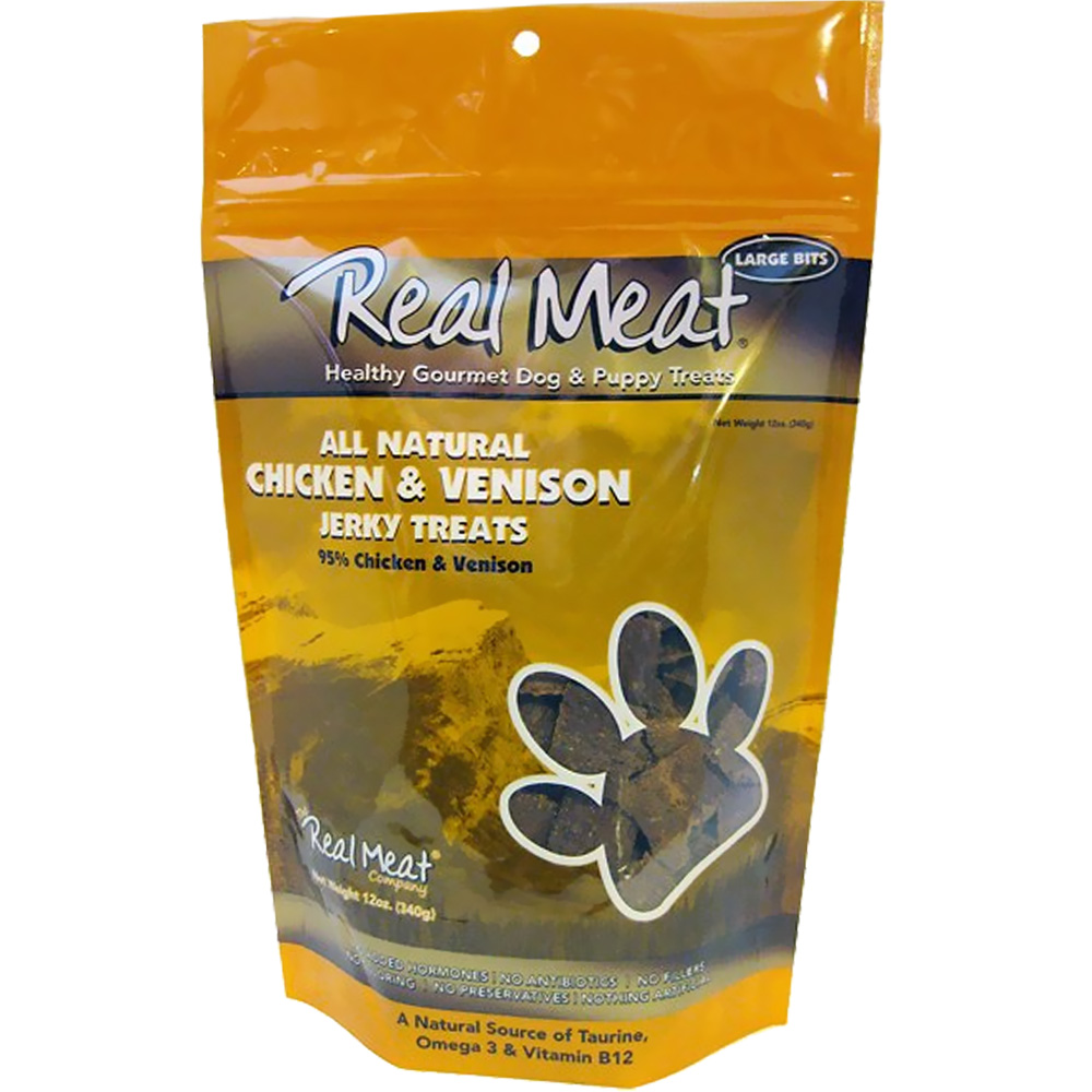 The Real Meat - Chicken & Venison Jerky Treat (12 oz)