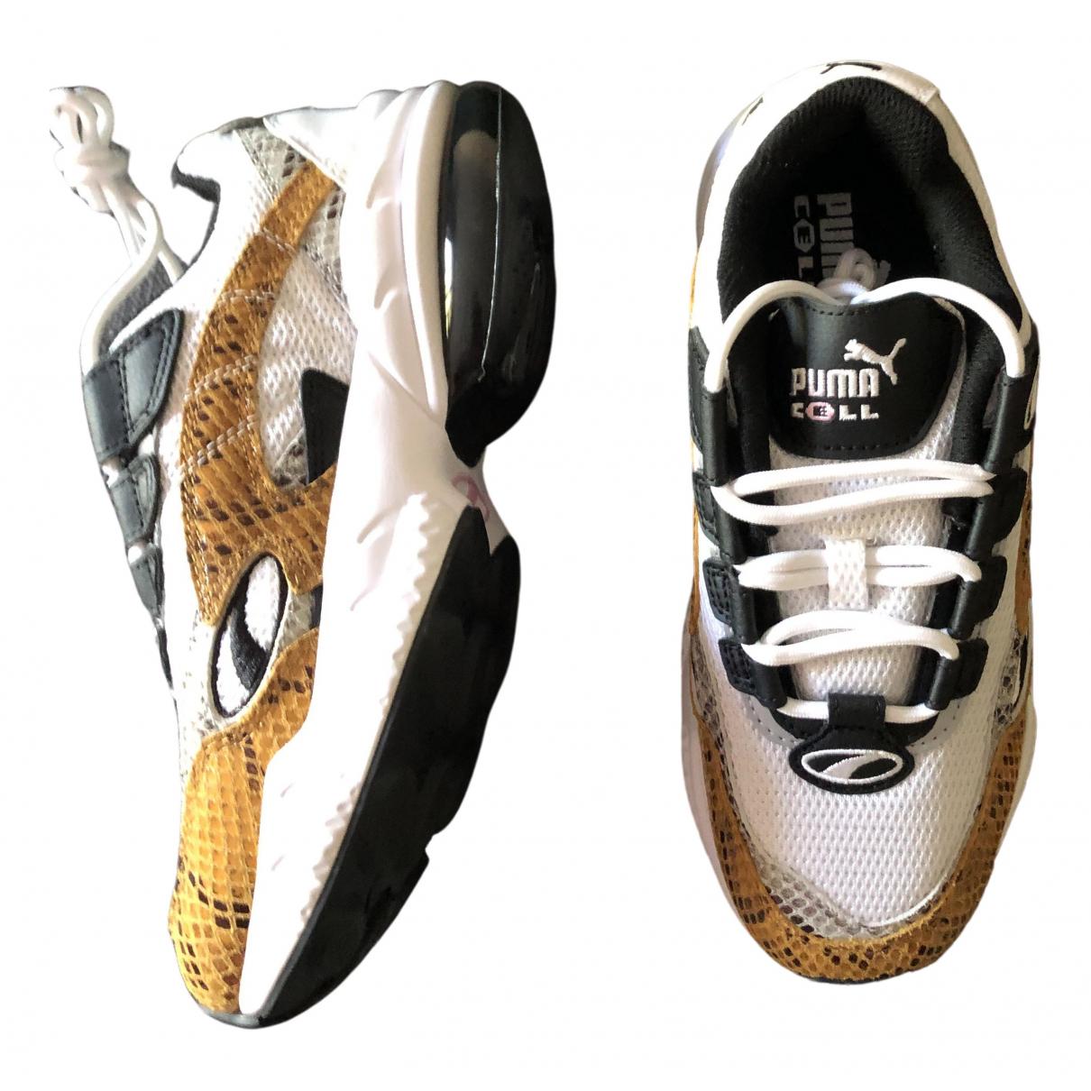 Puma - Baskets   pour femme en cuir - ecru