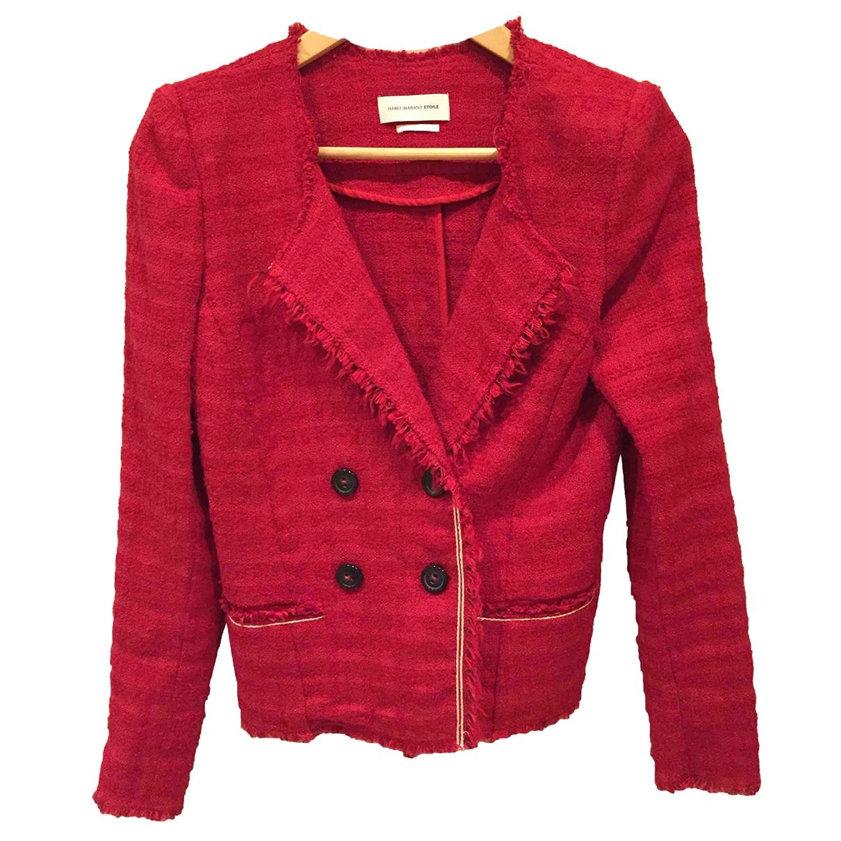 Isabel Marant Etoile - Veste   pour femme en coton - rouge