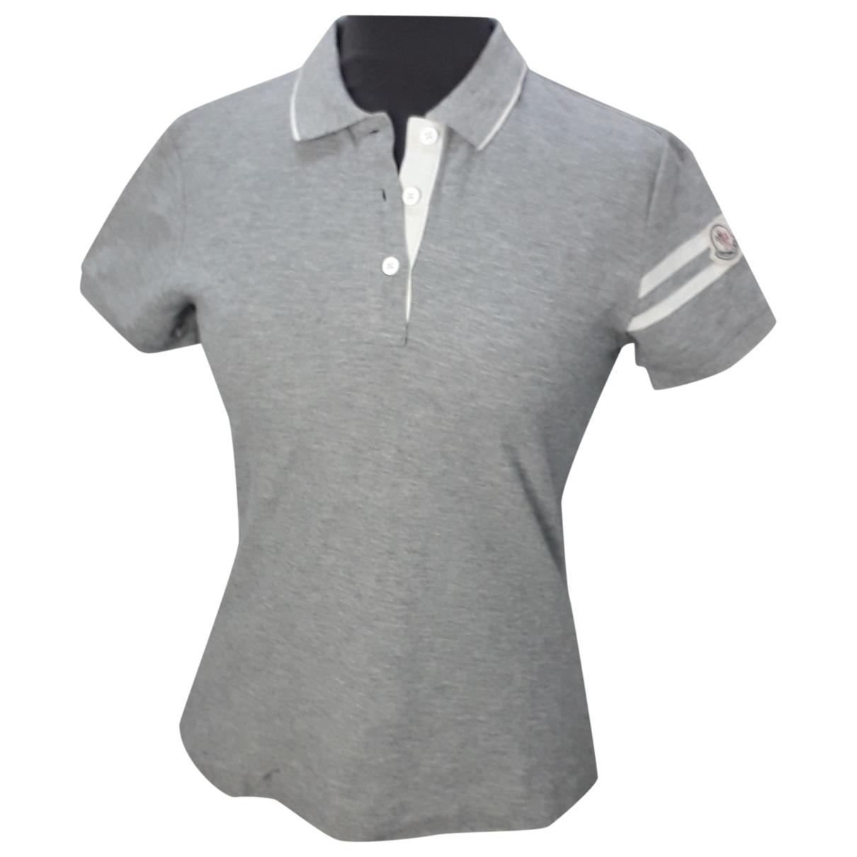 Moncler - Top   pour femme en coton - gris