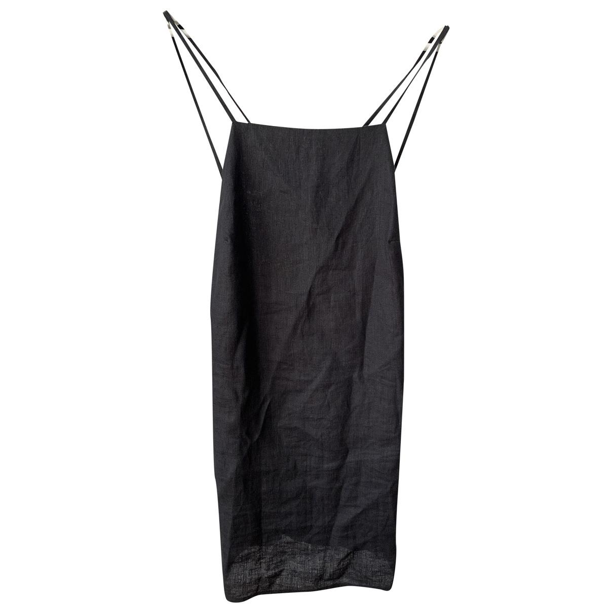 Reformation N Black Linen dress for Women L International