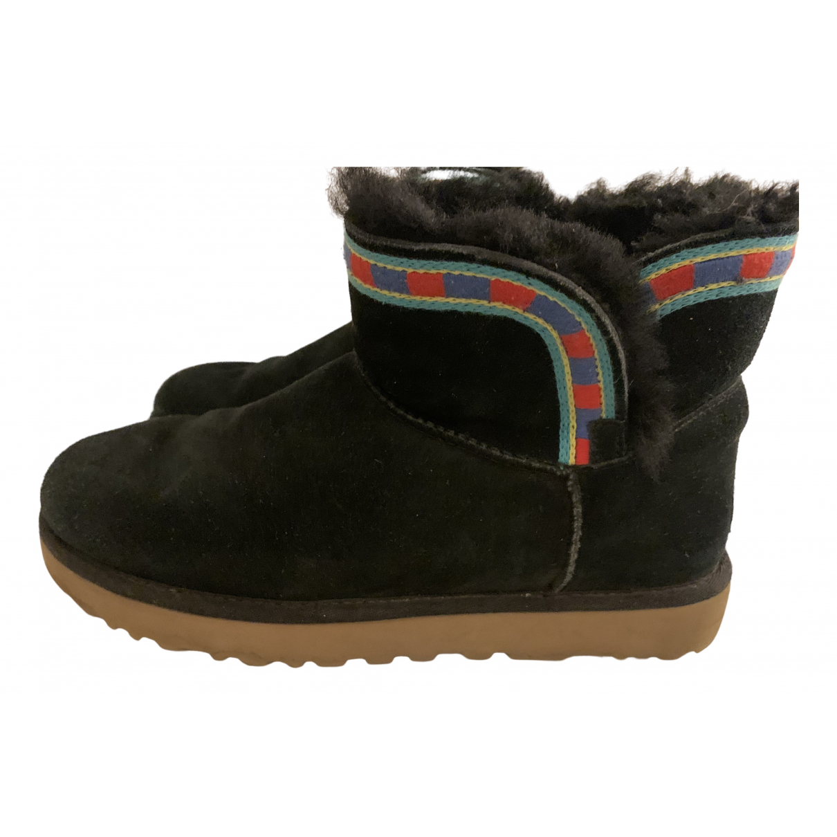 Ugg N Black Suede Ankle boots for Women 40 EU