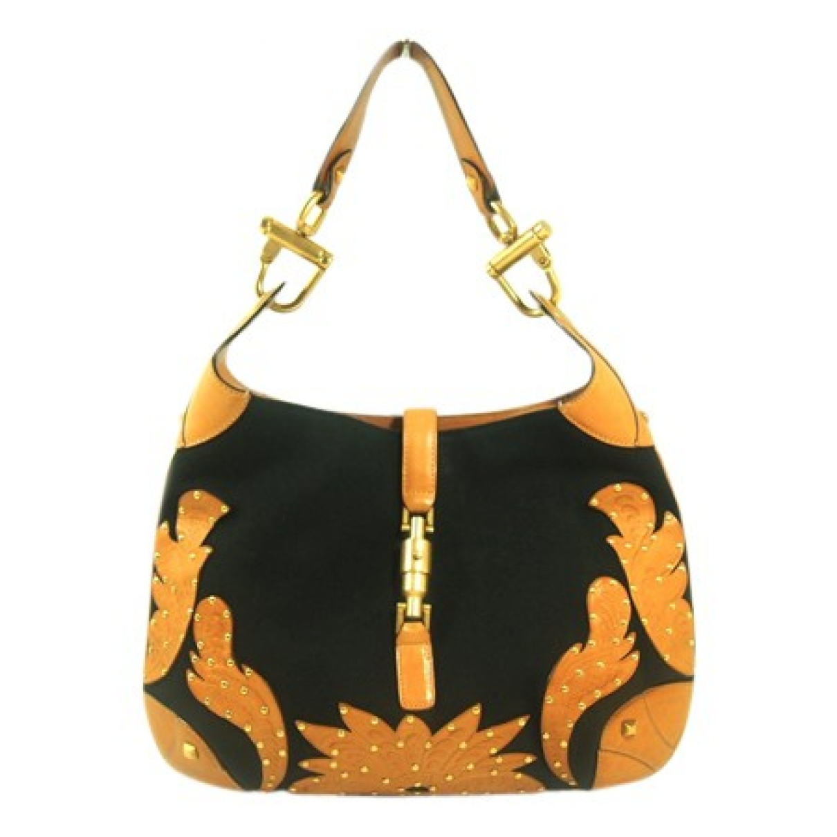 Gucci Jackie Black Cloth handbag for Women \N