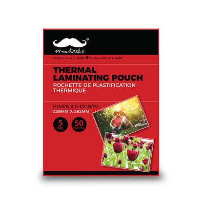 Pochette de plastification thermique, 5 MIL, 50/Paquet - Moustache®