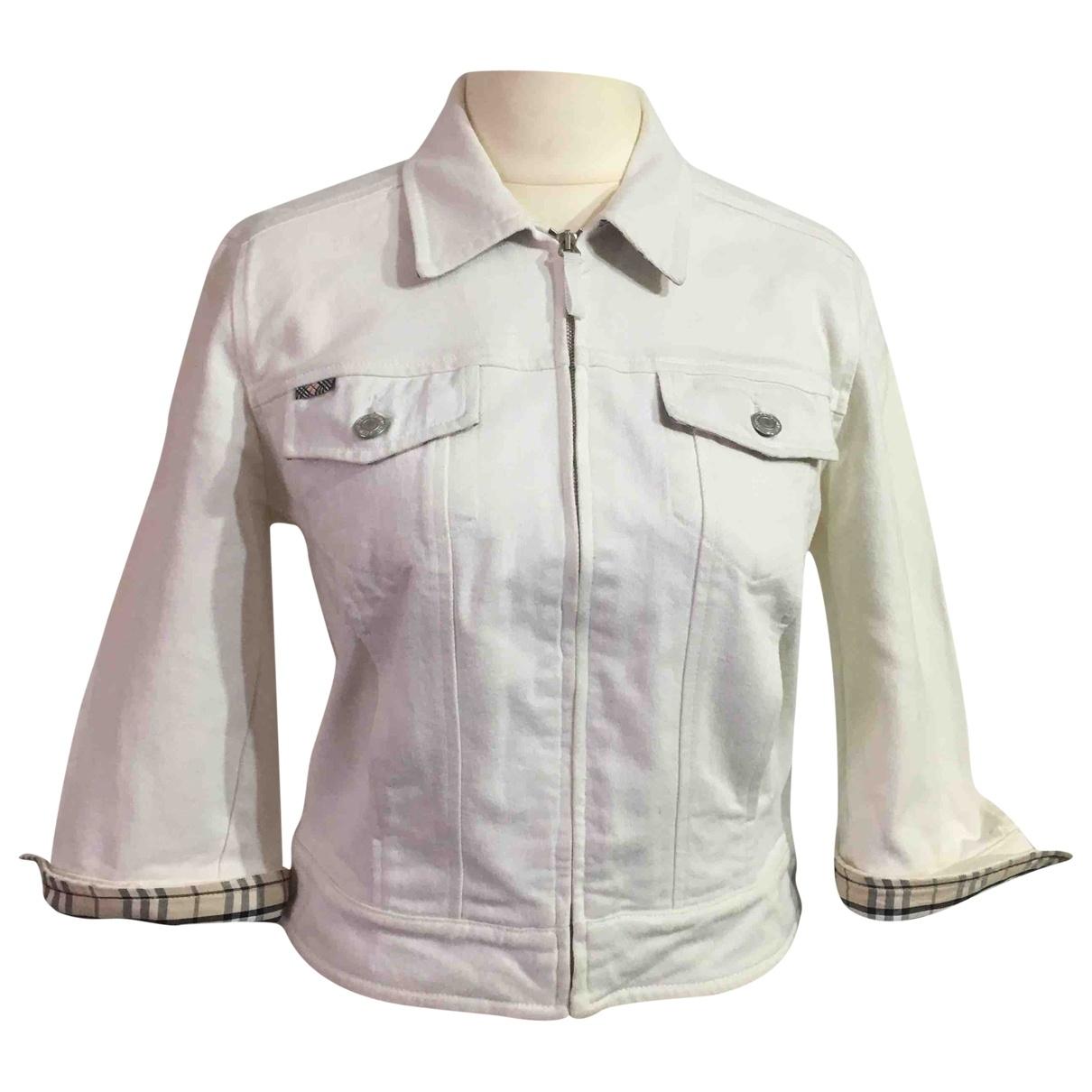 Burberry \N White Denim - Jeans jacket for Women 10 UK