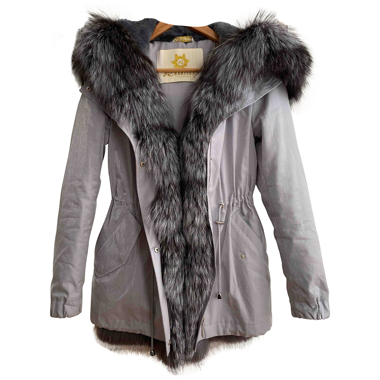 Non Signé / Unsigned \N Grey Fox coat for Women 38 IT