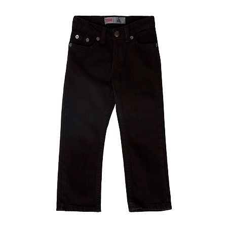 Levi's Little Boys Slim Fit Jean, 7 , Black