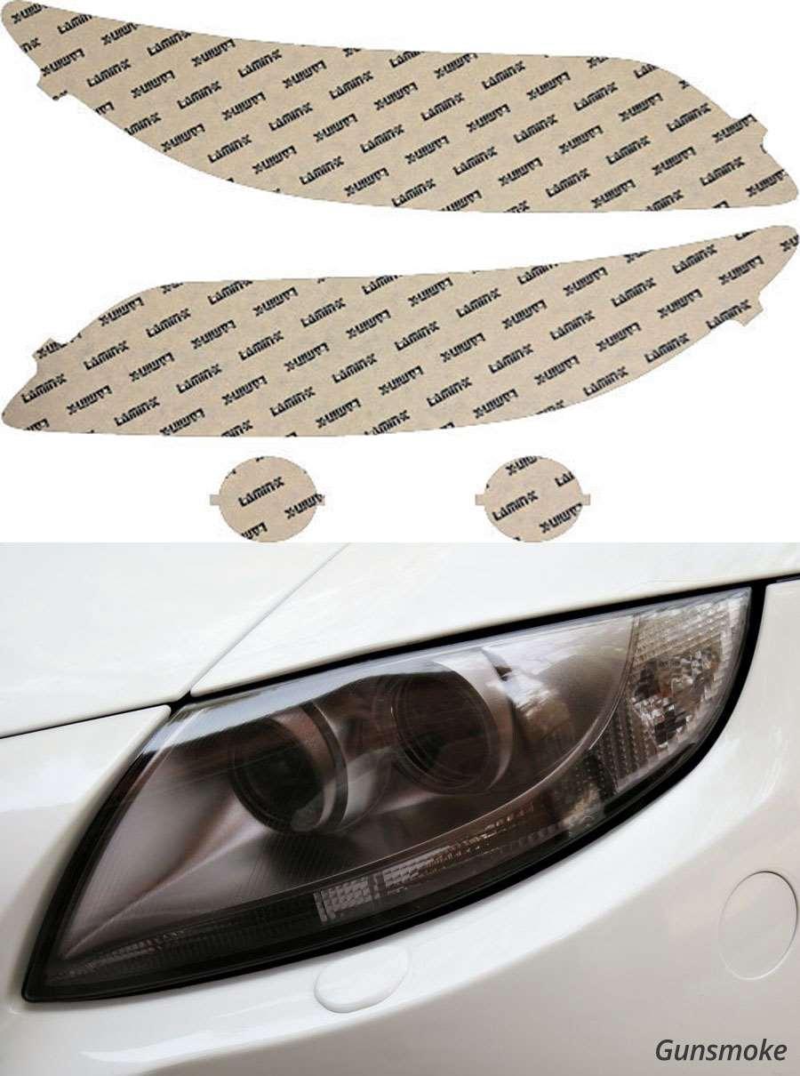 Mazda 6 03-08 Gunsmoke Headlight Covers Lamin-X M007G