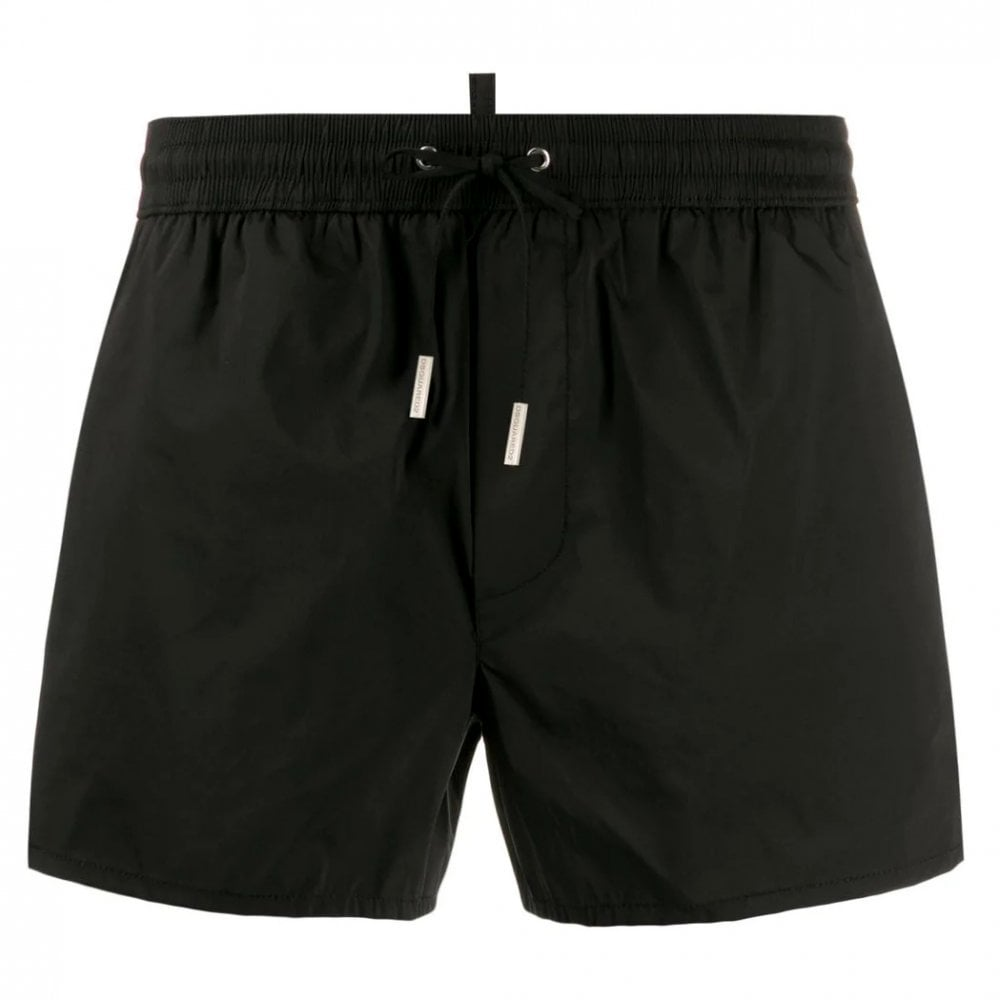 Dsquared2 Milano Logo Swim Shorts Colour: BLACK, Size: EXTRA EXTRA LARGE