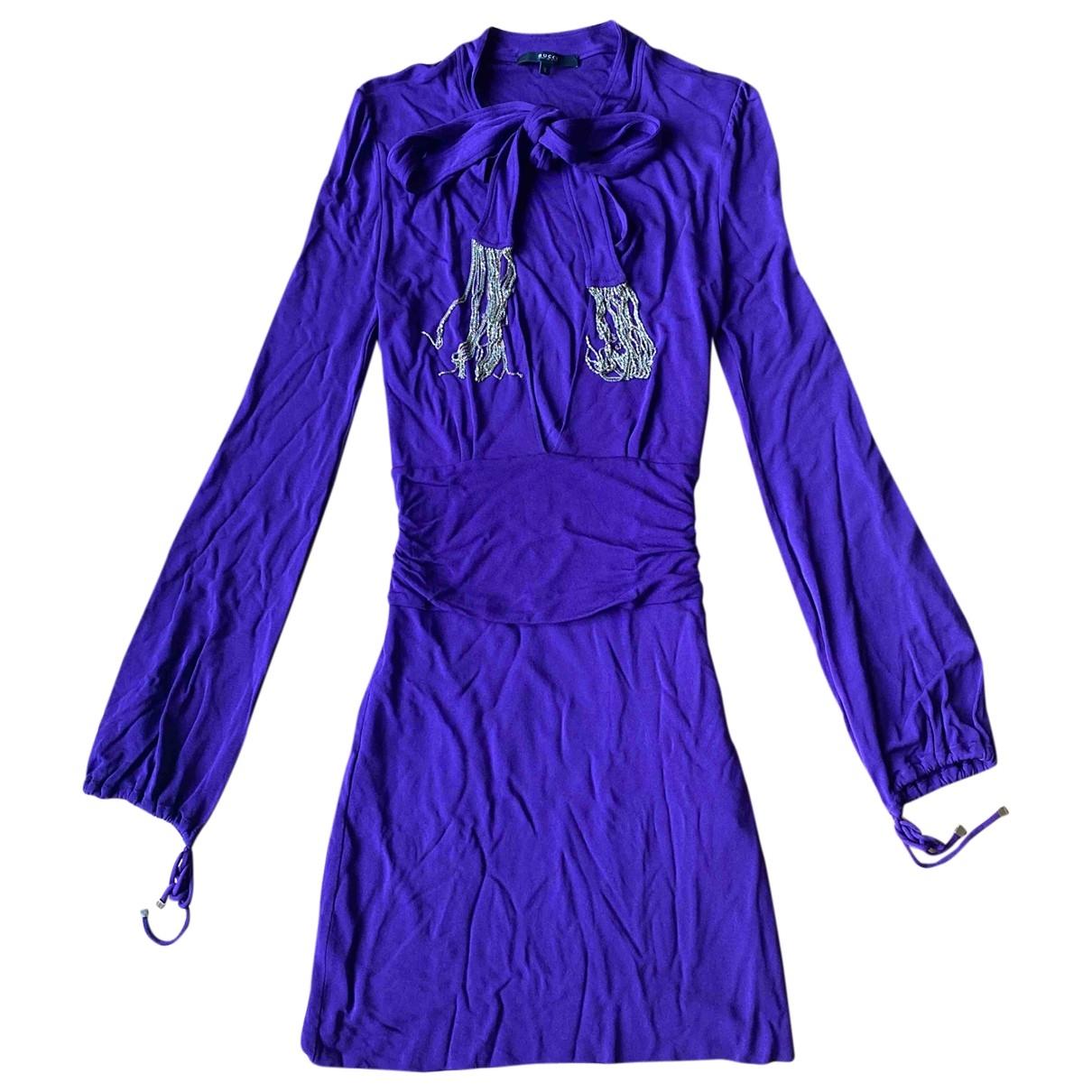 Gucci \N Kleid in  Lila Viskose