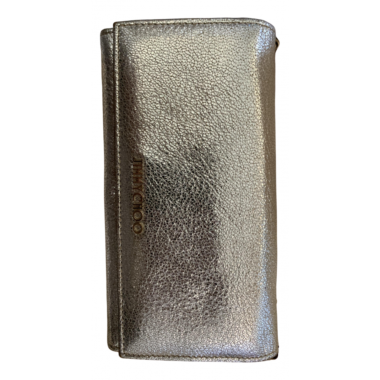 Jimmy Choo \N Clutch in  Silber Leder