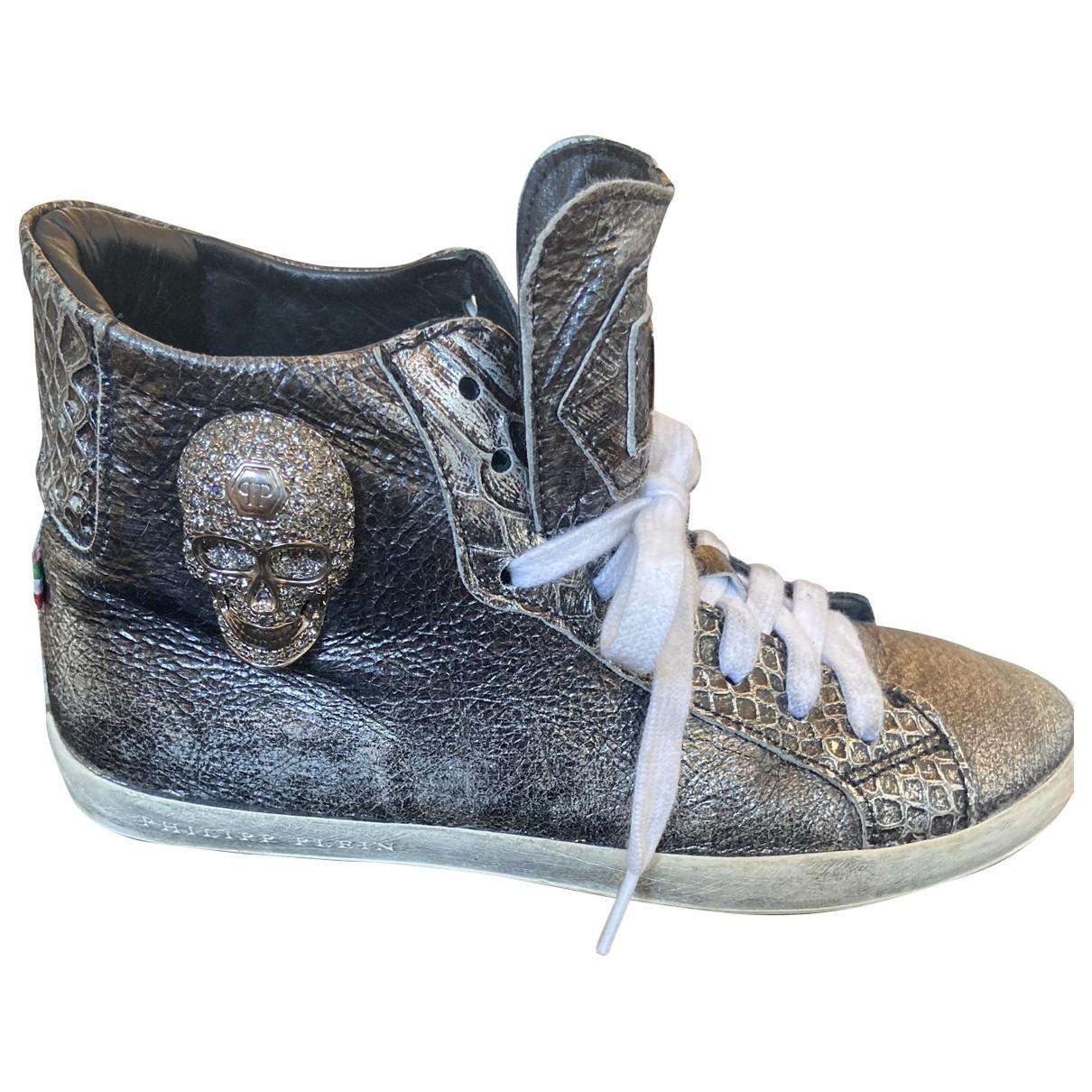 Philipp Plein \N Sneakers in  Grau Leder