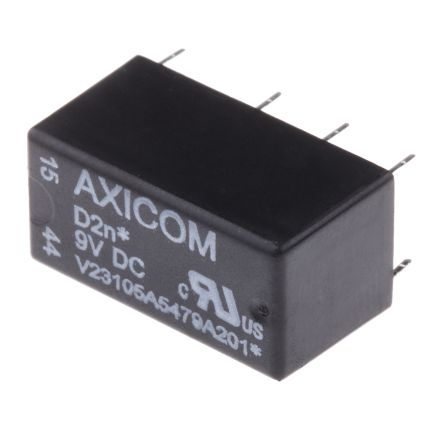 TE Connectivity , 10V dc Coil Non-Latching Relay DPDT, 3A Switching Current PCB Mount, 2 Pole