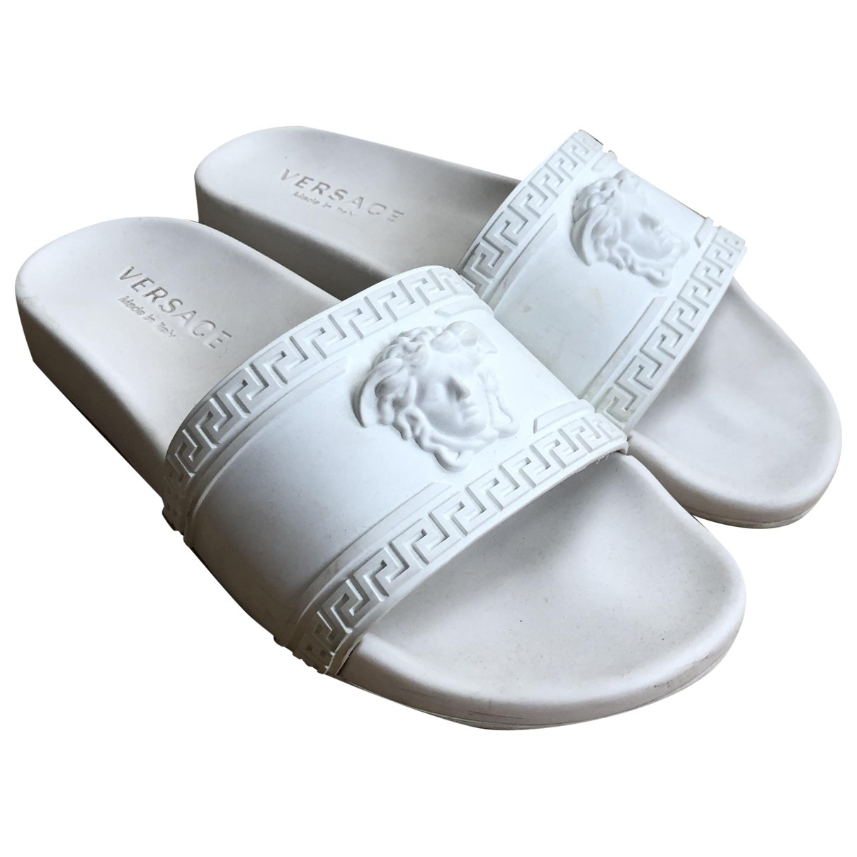 Versace - Sandales   pour homme en caoutchouc - blanc