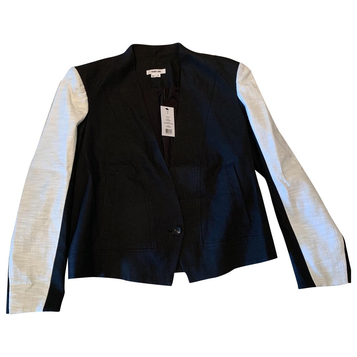 Helmut Lang \N Black Cotton jacket for Women 8 US