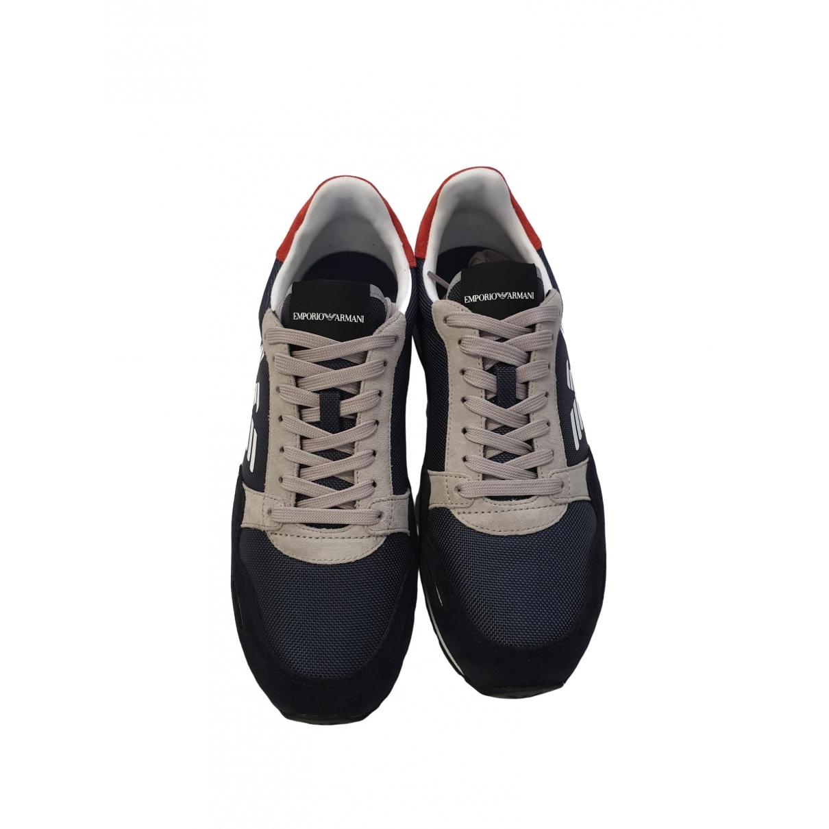 Emporio Armani \N Sneakers in  Bunt Veloursleder